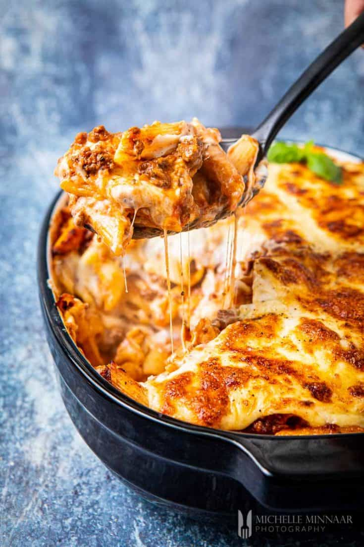 Bolognese Pasta Bake - a cheesy, comforting & easy-to-make pasta recipe