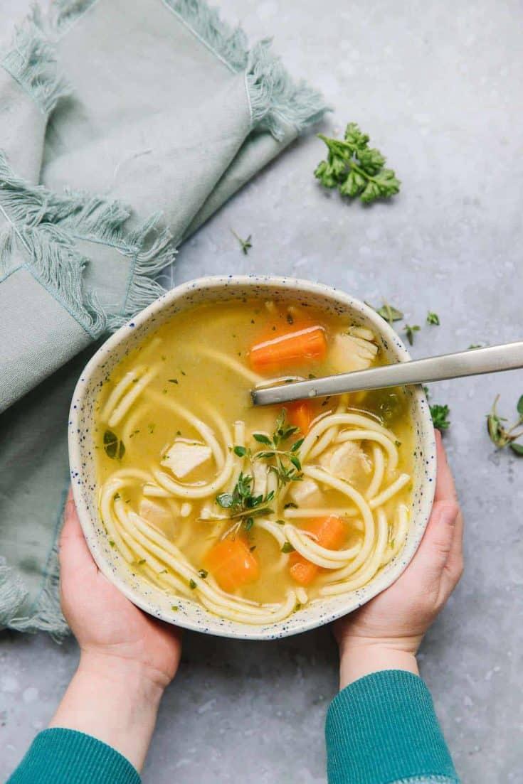 Chicken Noodle Soup Freezer Meal | Happy Money Saver