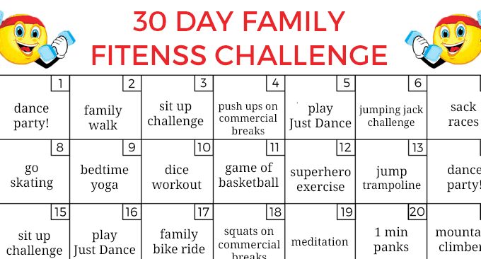 30 Day Family Fitness Challenge