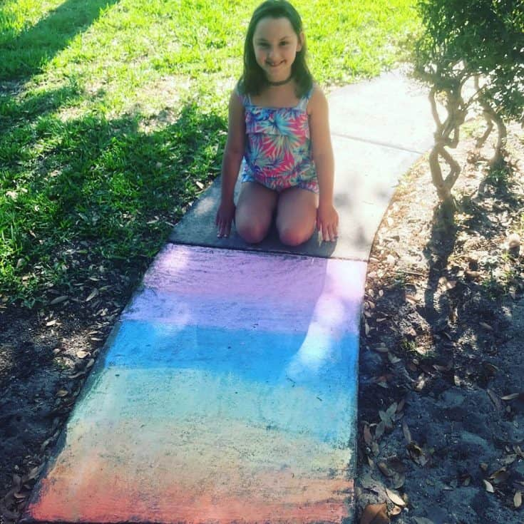 "Liz Dederer's Instagram photo: """"Mom, put these on Instagram."" The boss has spoken. 🤣 #sidewalkchalk #chalkart #creativekids #chalkchallenge #homeschoollife #artclass"""