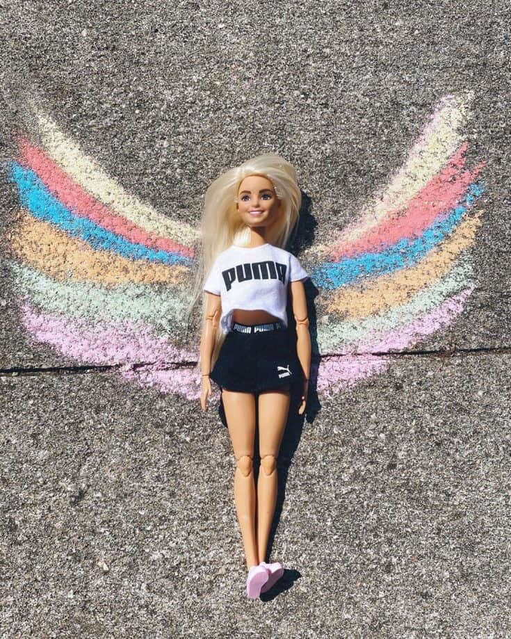 "Tori and Tripp on Instagram: """"Calling all angels."" — Train #adventurebarbies #barbie #barbietravels #toriandtripp #barbiegirlinabarbieworld #angelwings #barbiewings…"""