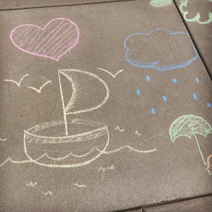 "Kerry O'Shea Gorgone on Instagram: ""So grateful for the #SidewalkChalk artists in our neighborhood! They make socially distanced walks much more cheerful!"""