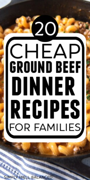 Cheap ground beef dinner recipes for families