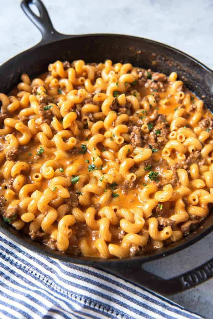 Homemade Hamburger Helper: Cheeseburger Pasta Skillet