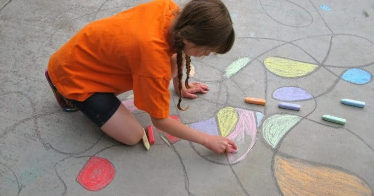 Summer Fun 2014 - Sidewalk Chalk Scribble Art