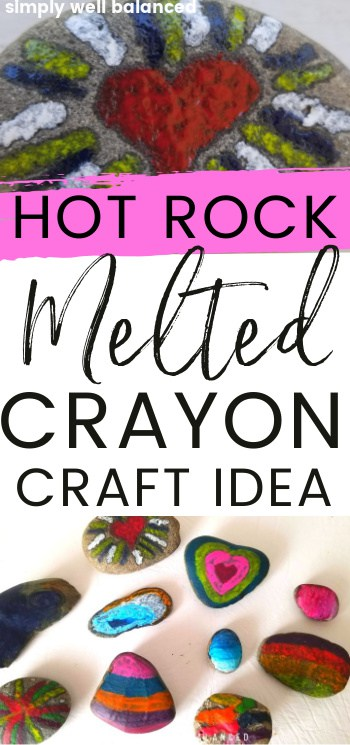 Hot Rock Melted Crayon Craft Idea for kids and adults