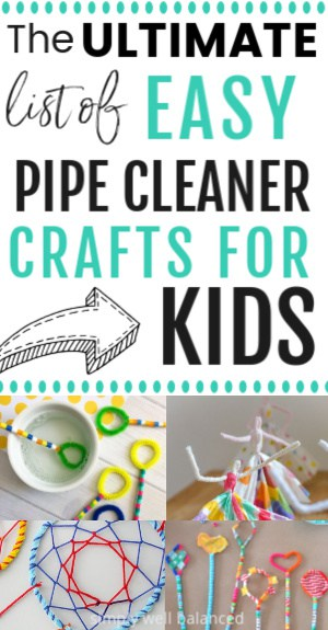 40 easy pipe cleaner crafts for kids.