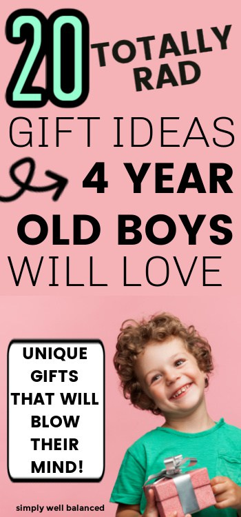 Unique and unusual gifts for 4 year old boys