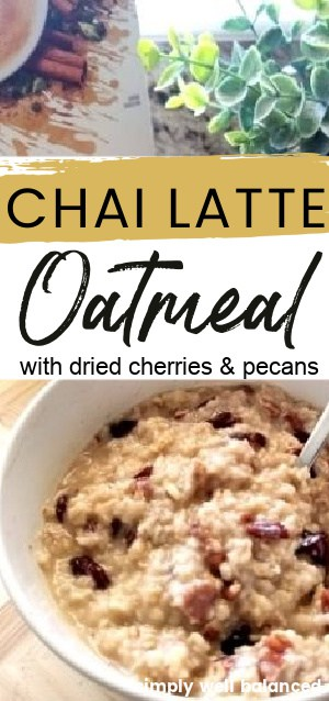 Chai Latte Oatmeal Recipe