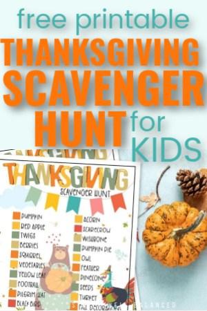 Free Printable Thanksgiving Scavenger Hunt PDF