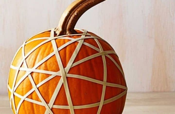 rubber band resist pumpkin