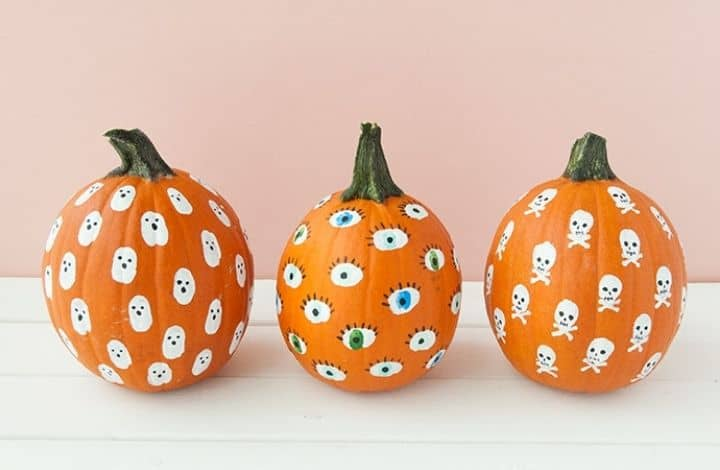 fingerprint pumpkin painting for kids