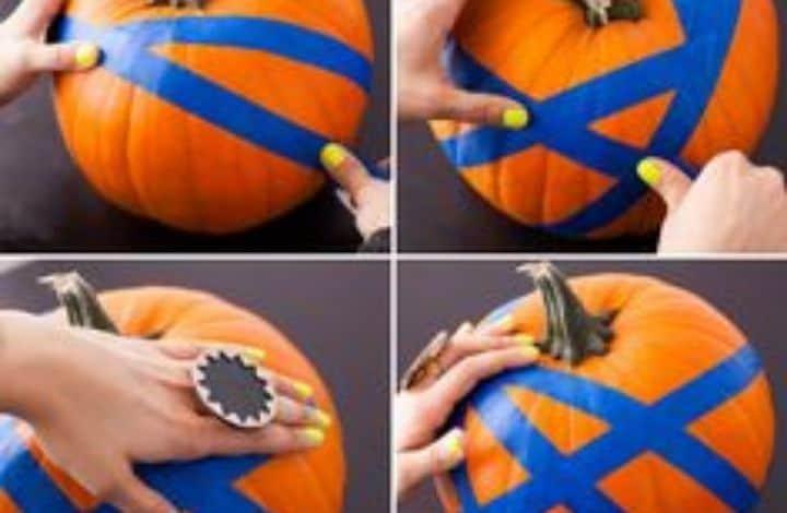glow in the dark spray paint pumpkin