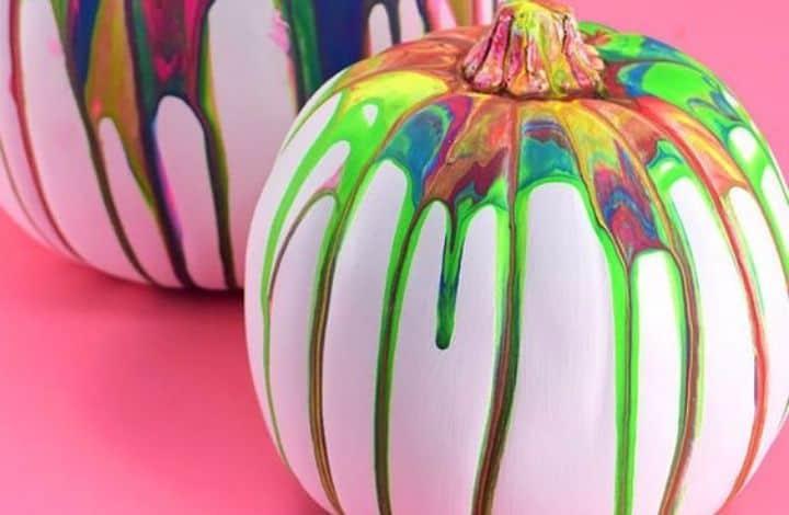 pour painted pumpkin