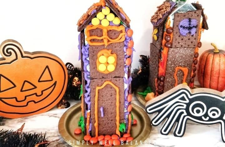 Easy Halloween Chocolate Graham Cracker Haunted House for Kids