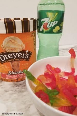 Orange Halloween punch ingredients