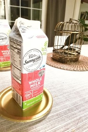milk carton to use as a scaffold to build a Halloween ginger bread house