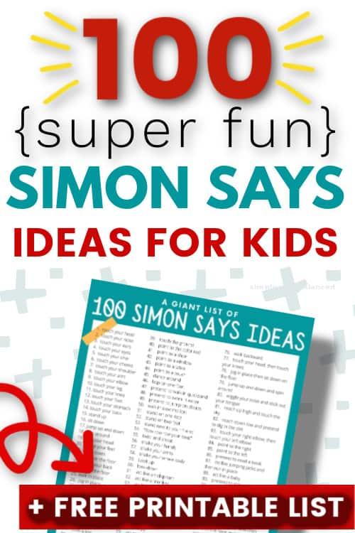 100 SUPER FUN SIMON SAYS IDEAS FOR KIDS
