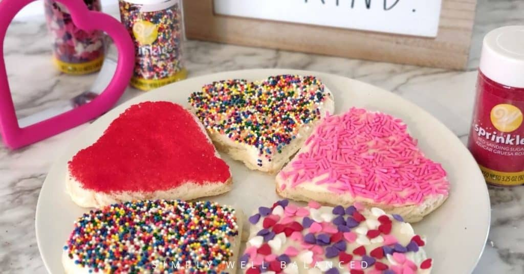 A plate of Valentine's Day Fairy Bread