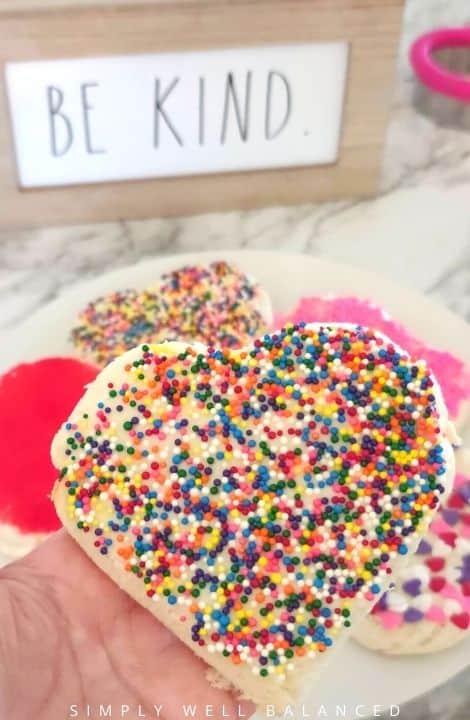 Heart shaped Australian Fairy bread