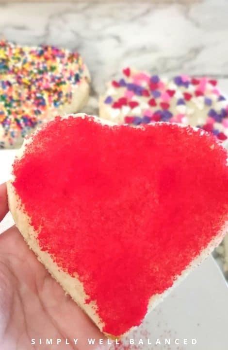 Red sanding sugar fairy toast