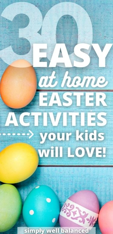 Easy at home Easter Activities for kids