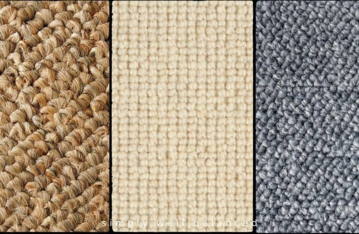 Examples of berber carpet styles and colors