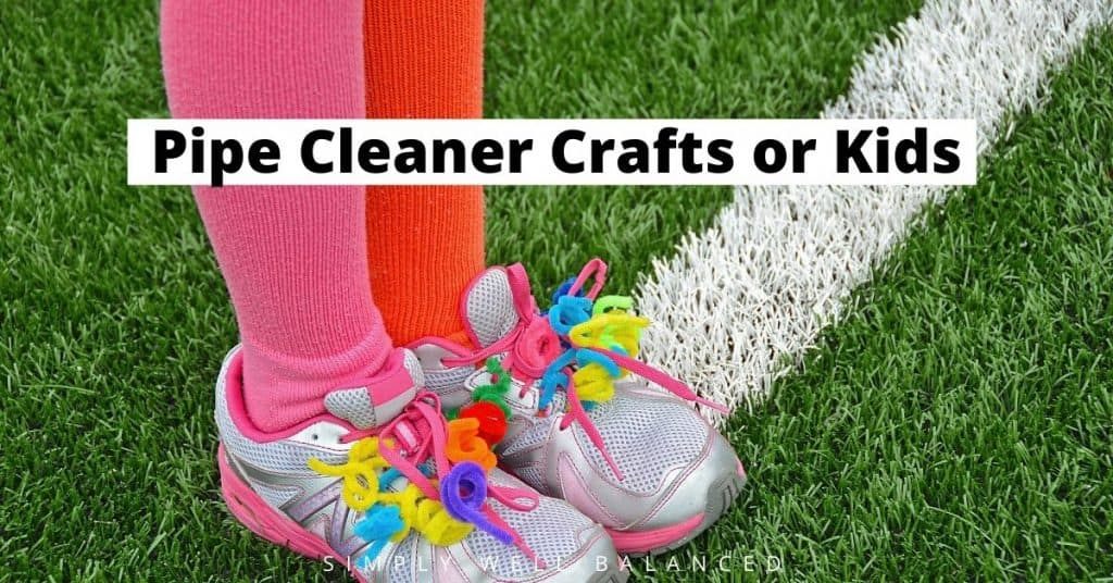 Fun pipe cleaner crafts for kids : shoelace decorations