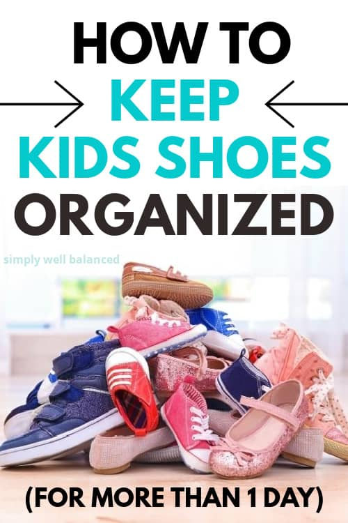 How to keep children's shoes organized.
