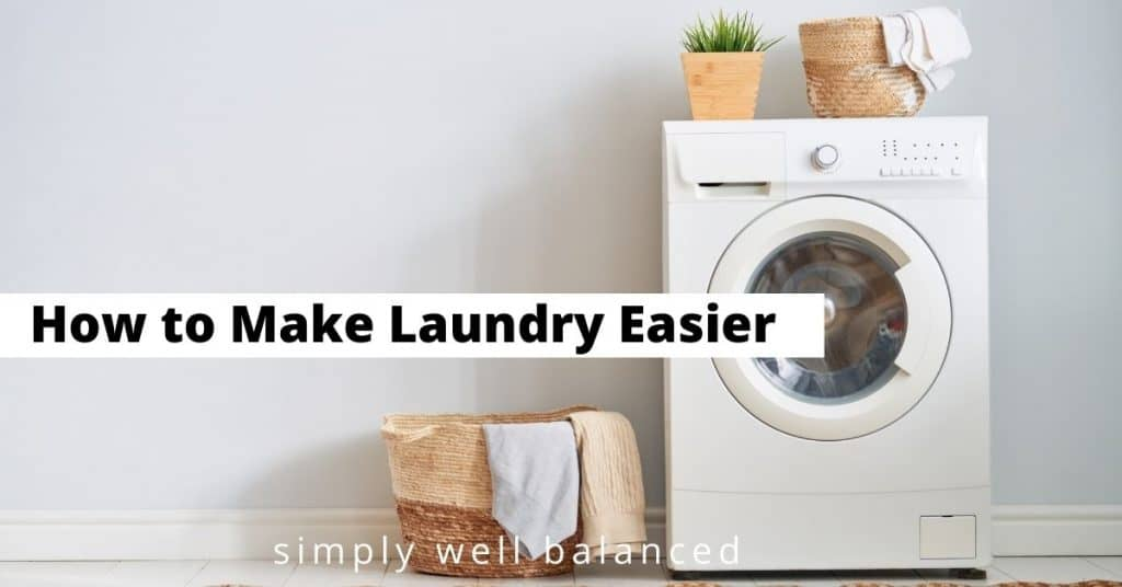 How to make laundry easier.